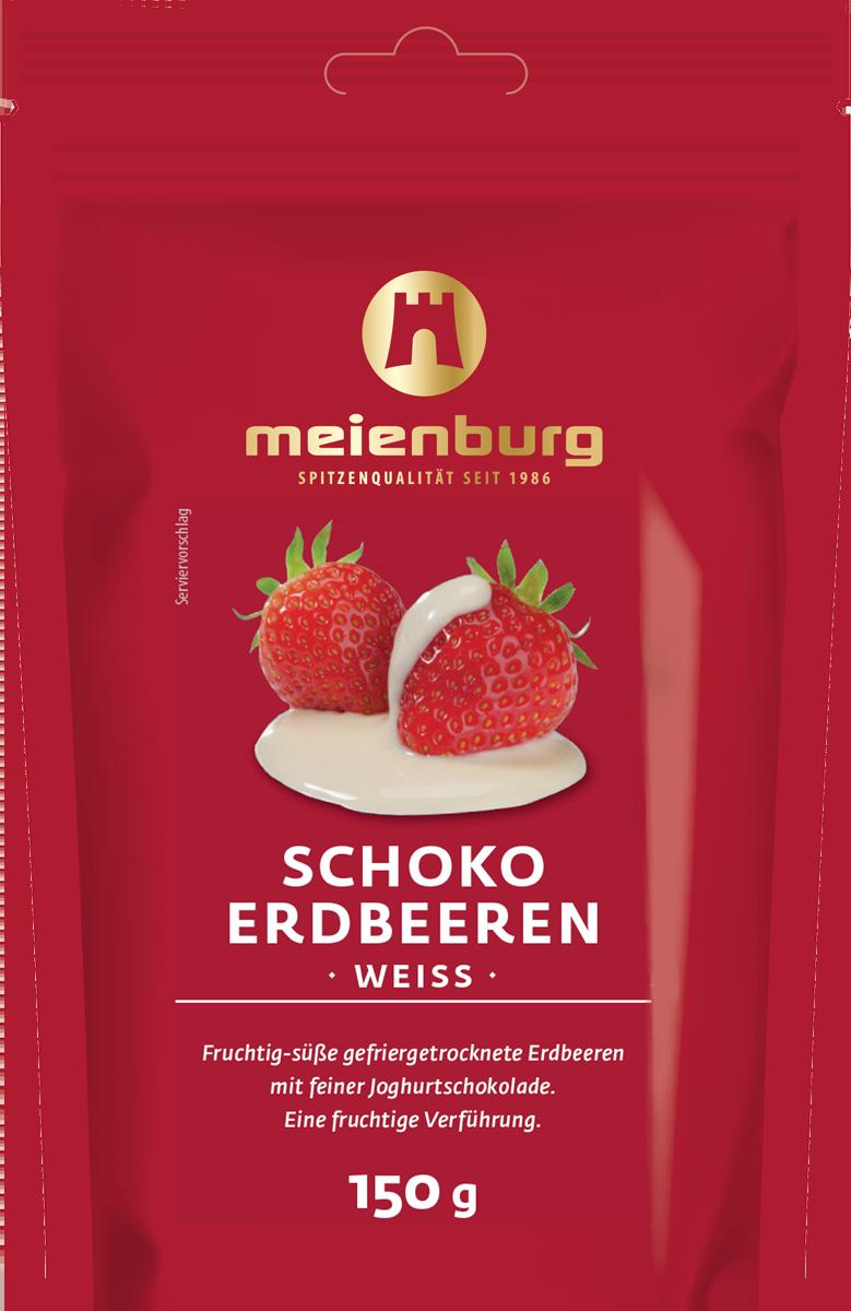 Schoko-Erdbeeren weiss 150g
