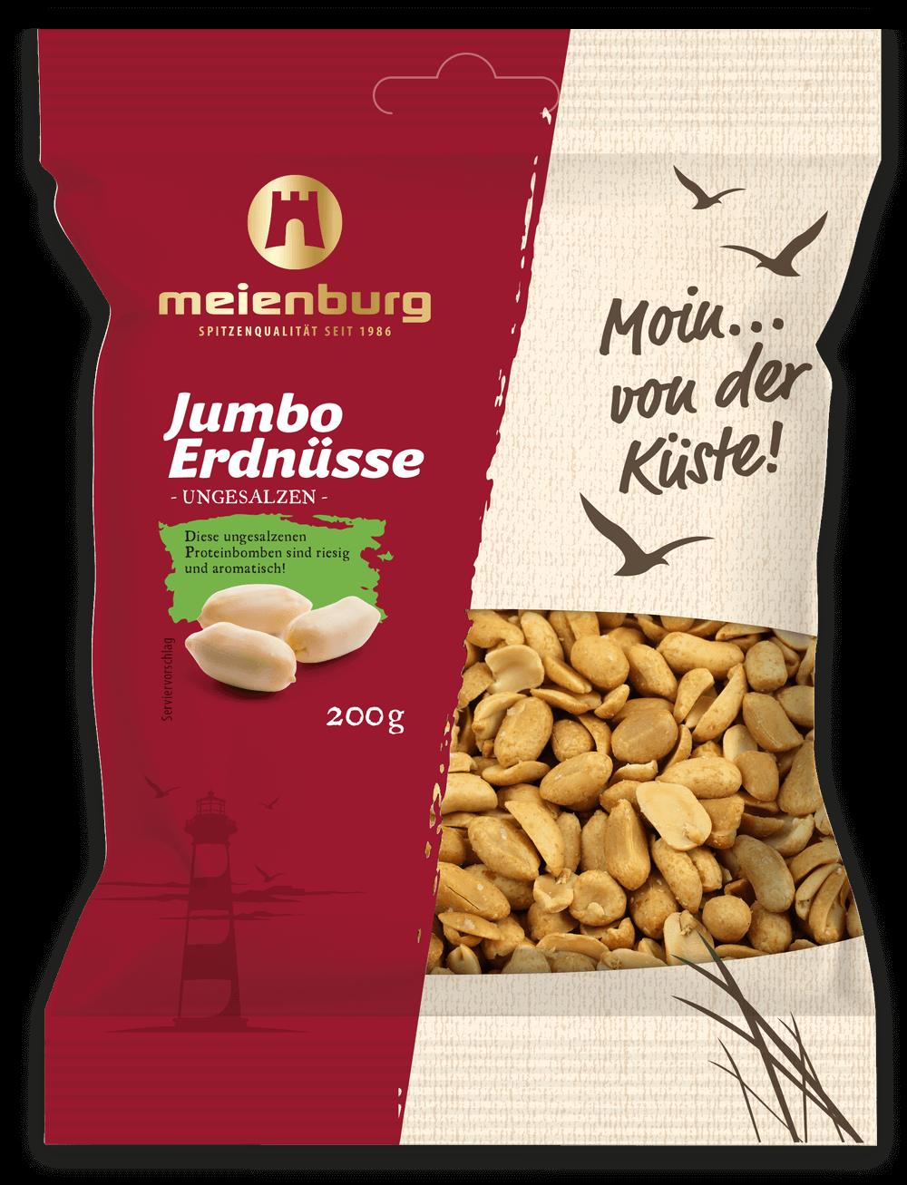 Erdnüsse, Jumbo ungesalzen 200g