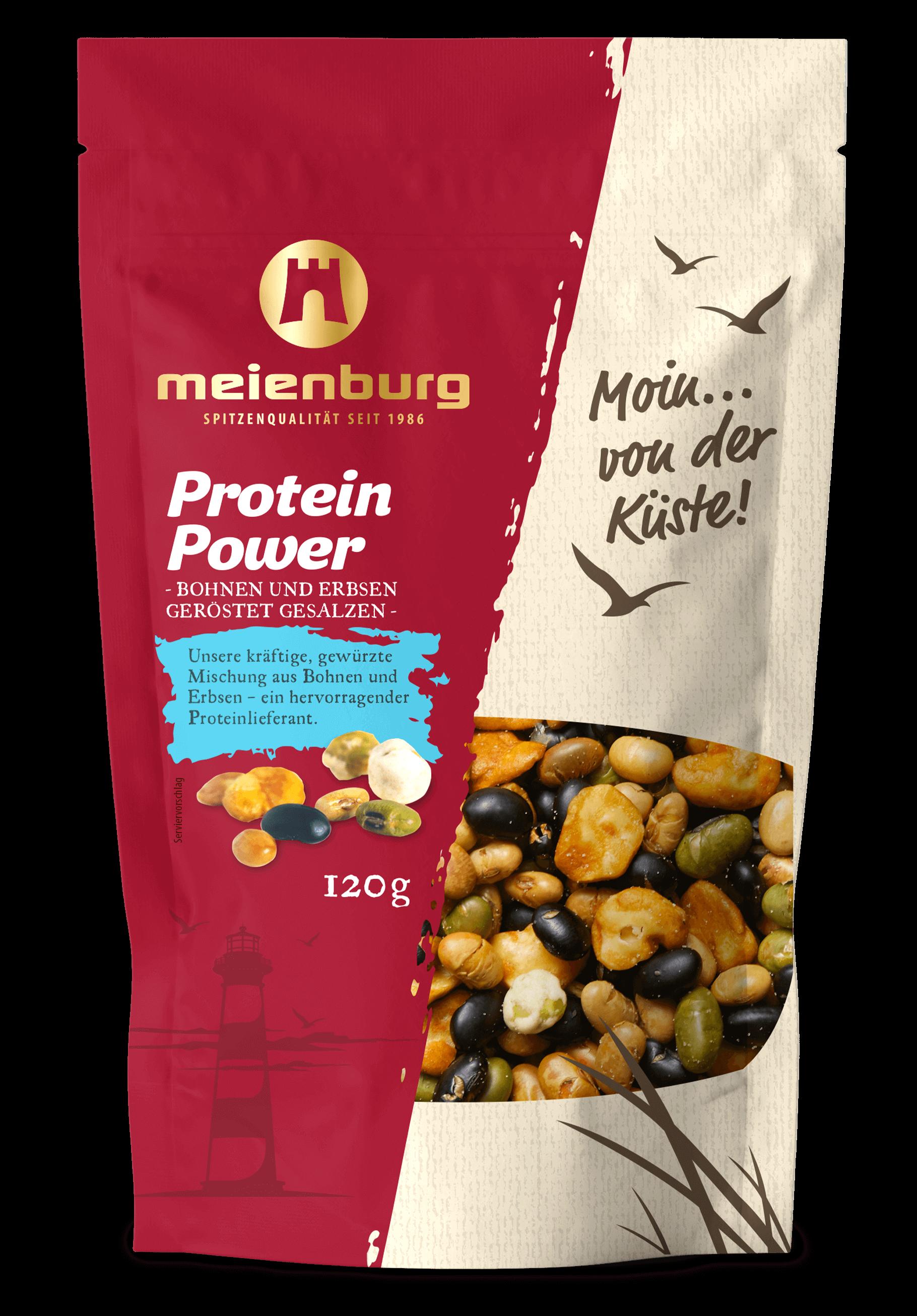 Proteinpower - Bohnen & Erbsen geröstet & gesalzen 120g